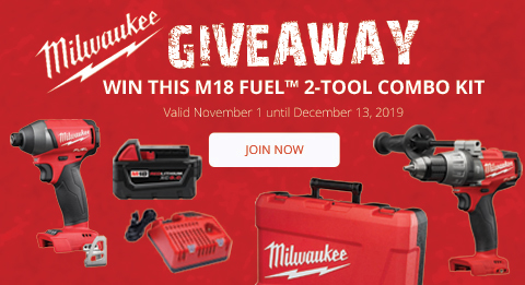 WIN THIS M18 FUEL™ 2-TOOL COMBO KIT! Join now at ohcanadasupply.ca!